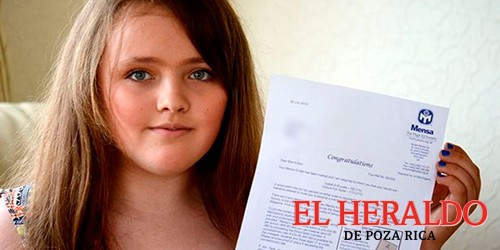 Niña supera coeficiente intelectual de A. Einstein