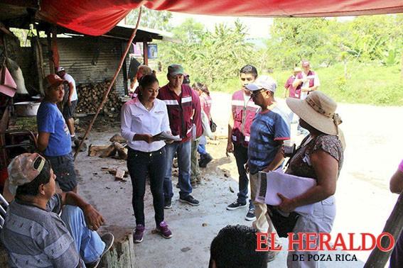 Muestras de apoyo para Raquel Bonilla en Coatzintla
