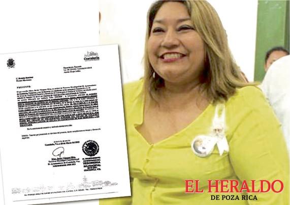 Alcaldesa de Coatzintla oculta su jugoso salario