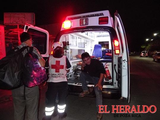Motociclista herido en accidente