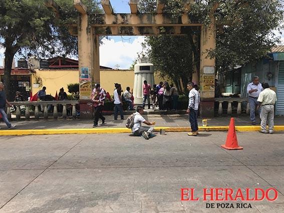 Retiran ambulantaje en centro de Coatepec