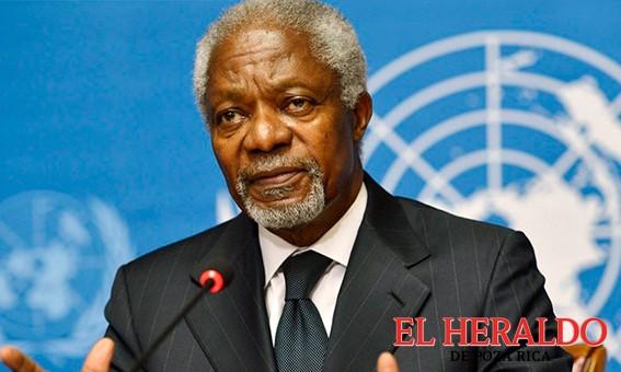 Muere Kofi Annan