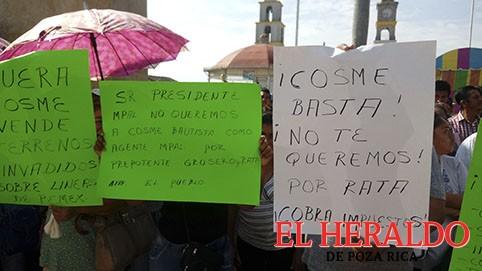 Piden vecinos de Escolín destituir a Cosme Bautista