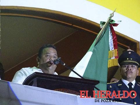 César Ulises García Vázquez dio el Grito de Independencia