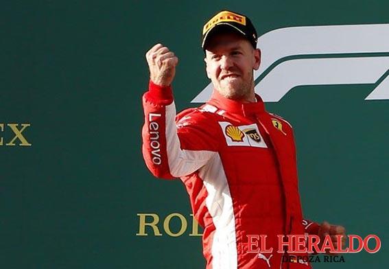"""""""La suerte estuvo de mi lado"""": Vettel"""