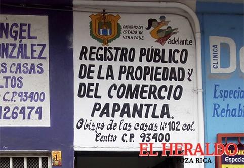 Quejas contra el Registro Público de la Propiedad