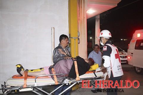 Termina su fiesta, hospitalizada