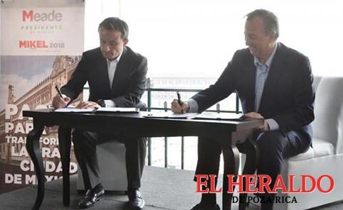 Meade y Mikel firman pacto