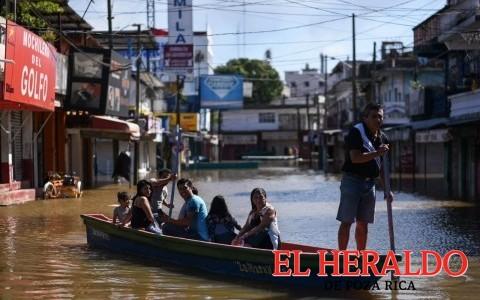 Alerta por crecimiento del río Coatzacoalcos