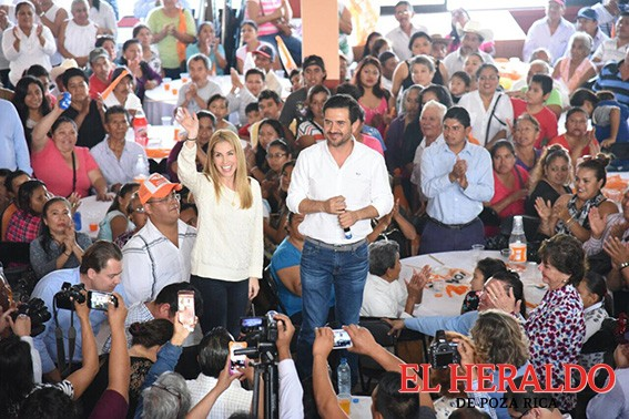 La militancia zamoreña con Yunes Márquez