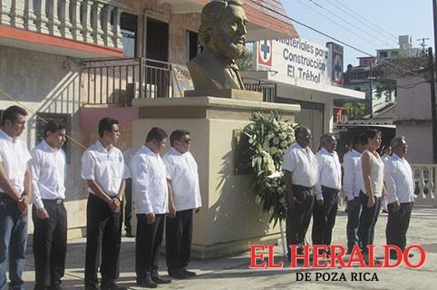 Homenaje a Benito Juárez y Manuel Gutiérrez Zamora