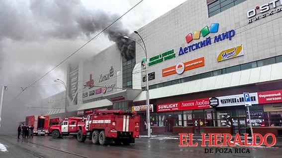 Incendio en Siberia dela 37 muertos