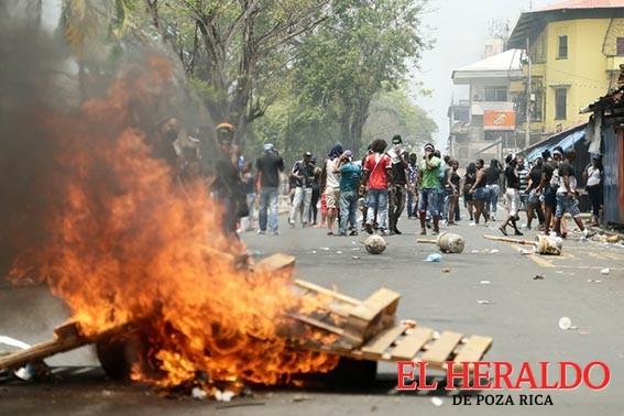 Disturbio y caos tras protesta