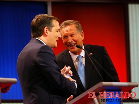Precandidatos republicanos Cruz y Kasich forman alianza contra Trump