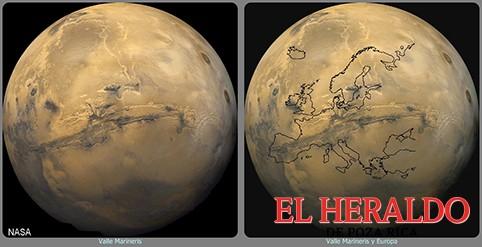 NASA investigará valle en Marte