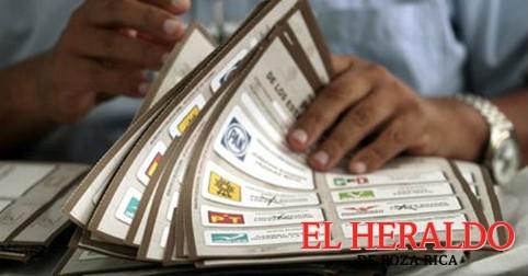 El 29 de mayo, distribución de las boletas electorales
