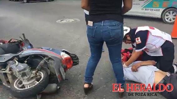 Motociclista embestido en la colonia Santa Emilia