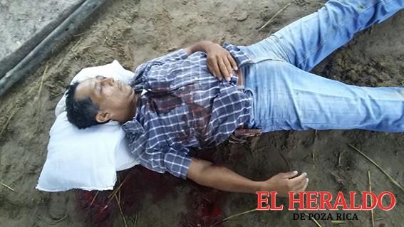 Campesino ejecutado a balazos