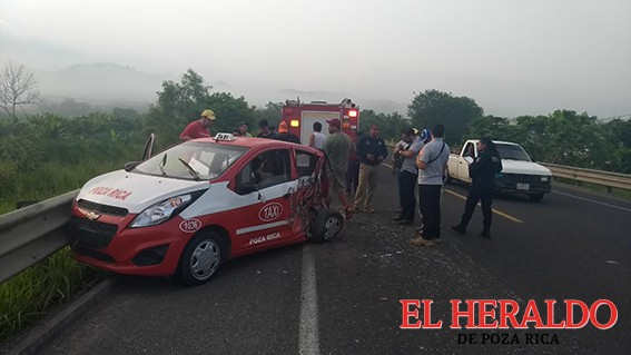 Carreterazo en la Pachuca-Tuxpan