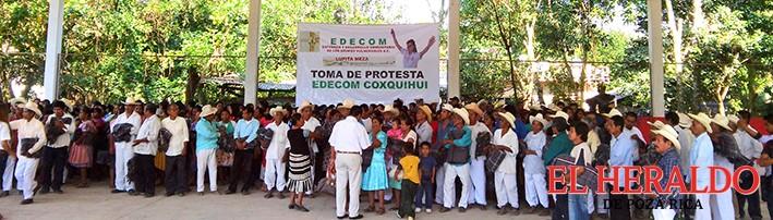 EDECOM Coxquihui se declara listo para apoyar a Lupita Meza