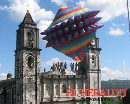 Arranca XII Concurso del festival de globos en Zozocolco
