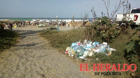 Playas terminan llenas de basura