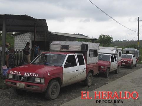 A la baja el transporte rural