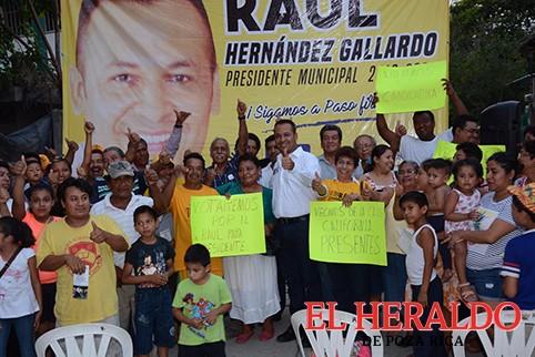 Cierran filas a favor de Raúl Hernández