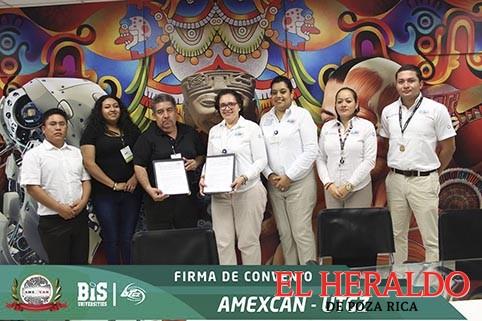 UTGZ y AMEXCAN firman convenio de colaboración