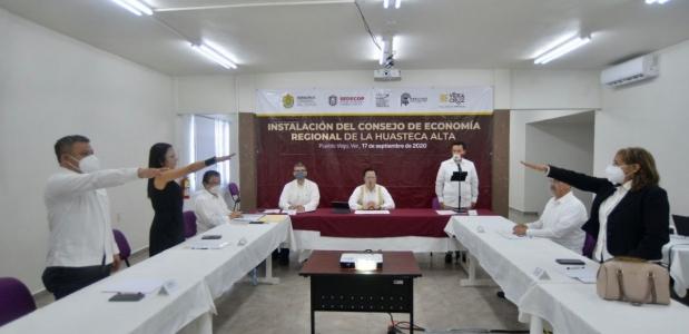 Por la reactivación económica de Veracruz, culmina con éxito instalación de 10 consejos regionales